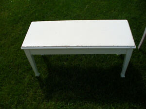 Shabby Chic White Bench / Piano Bench