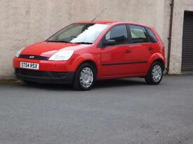 FORD FIESTA 1.25 LX 2005 54 reg ONLY 2 OWNERS 5 DOOR ONLY 68547 MILES