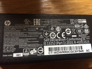 Power supply laptop HP