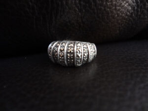 STERLING RING WITH MARCASITES