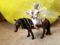 Schleich horse and fairy toy