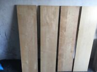 Set of 4 shelves - ideal for garage or cupboard when space needed