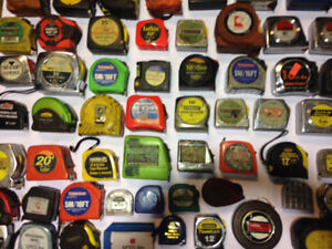 Tape Measures $1+up each, over 75 tapes & LOTS of tools 4 sale!!