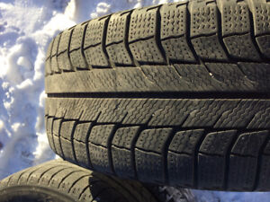 Michelin X-Ice (winter) tires 205/55R16 on 5/112 rims