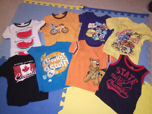 8 pieces of summer t-shirts for toddler boy - size 3