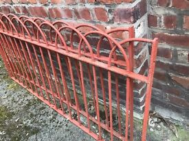 19th century rare hoop top cast iron railings
