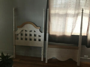 Twin bed frame; Pine accents
