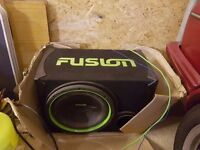 fusion amp and sub woofer plus the leads