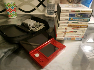 Nintendo 3ds with 12 Games