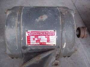 Industrial 3 phase 208 VAC electric motor