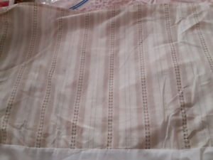neutral king size bedspread and matching bedskirt