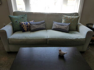 ☆☆☆ Light Blue Sofa Couch ☆☆☆