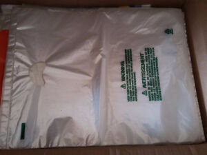 Lot of 150 plastic bags die cut 19 x 15 inches Brand new London Ontario image 3