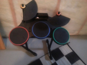 Electric Drum Kit, Roku TV box, Small TV, 2 Space Heaters