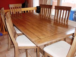 Set de cuisine 7 morceaux en bois naturel