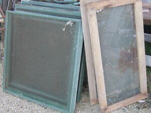 BUNCH OF OLD 1940s WOOD FRAME SCREENS $10 EA. ARTS CRAFTS