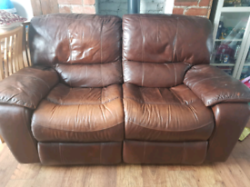 Harvey's Leather 2 seater reclining sofa