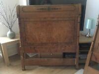 Single wooden headboards antique style