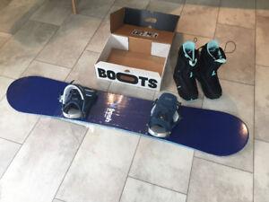 Burton Snowboard Boots & Fresh Snowboard never used!