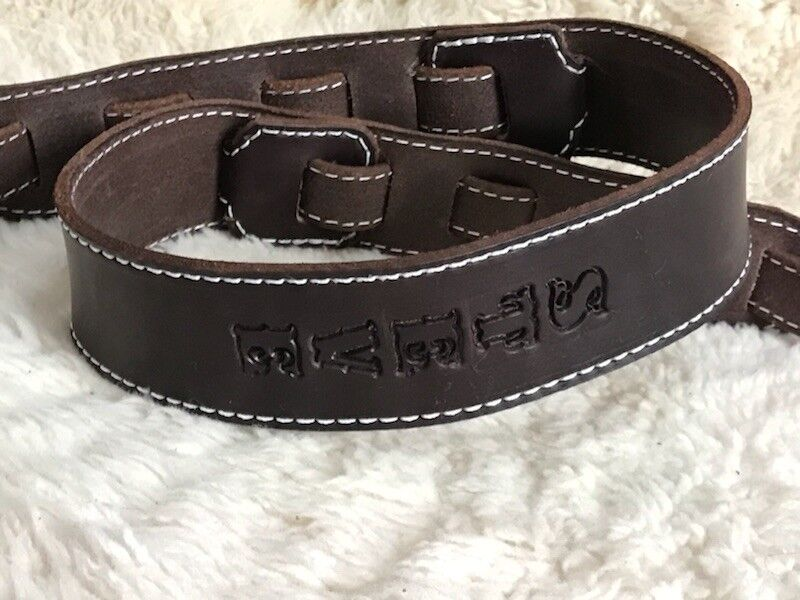personalized custom quality leather guitar strap