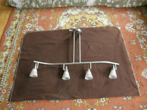 Track lights and table lamp