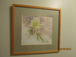 Watercolor Painting of Yellow Flower