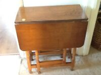 Gate leg drop leaf table wooden occasional