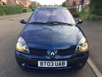 Renault Clio 1.1 2003 16 valve drives excellent 1 year MOT very clean inside