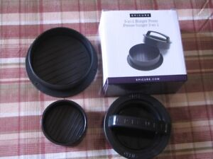 Epicure - 3 in 1 Burger Press (NEW)
