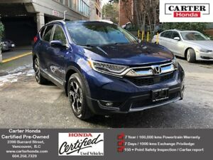 2017 Honda CR-V Touring + CERTIFIED + MANAGERS SPECIAL!
