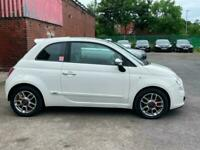Fiat 500 1.4 sport white manual cheap car cheap runner great 1st car. Runs good.