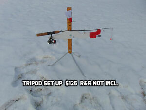 Motorized auto jigger tip-up for ice or water fishing