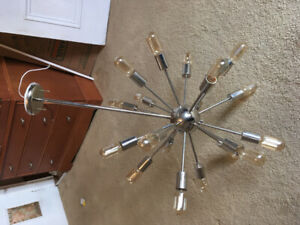 Modern light fixture in excellent condition