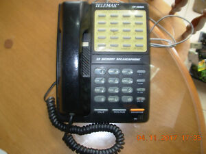 Telemax telephone Model CP2688K 20 Memory speaker phone/call wai