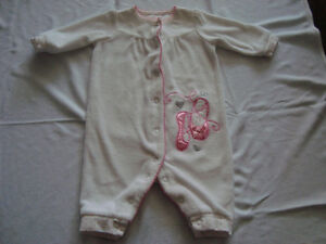 BABY GIRL 3 month sleepers - $1.00/ea or $6 for all!!