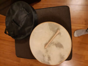Bodhran for sale with carrying bag