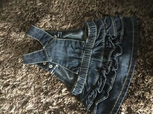 Brand new condition jean overall dress 0-3m Kitchener / Waterloo Kitchener Area image 2