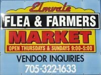 Elmvale Flea and Farmers Market Opening Sunday May 10th