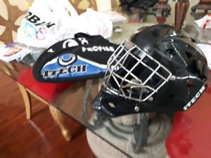 Junior Itech Bauer 1200 hockey goalie mask. With matching  bag.