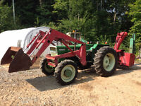 tracteur white oliver 1370 70hp 4x4