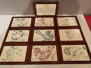 Disney The Lion King Lithographic Drawings Set