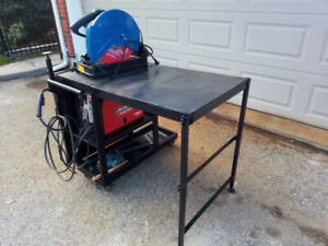 welding/work cart with folding table