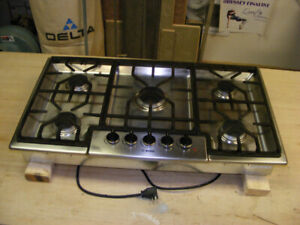 """Bosch 36"""" Professional Stainless Steel NG or LP Cooktop"""