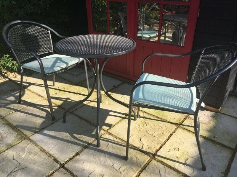 homebase bistro patio set garden furniture table and two. Black Bedroom Furniture Sets. Home Design Ideas