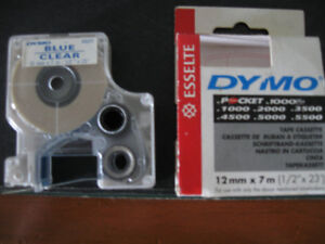 Dymo Esselte 12mm x 7mm Blue on clear-never used + more