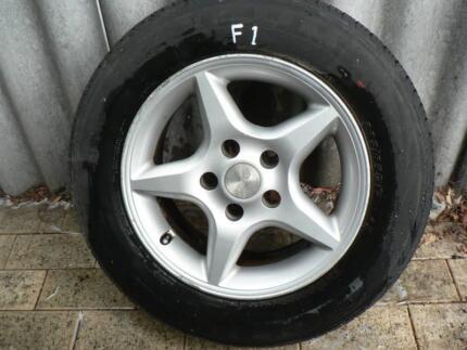 (F1) EF EL 'speedy' rims and tyres 205/65/15 Kelmscott Armadale Area Preview