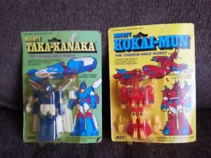 Selling 1980s Four Diecast transforming Robots,Sealed,CIB