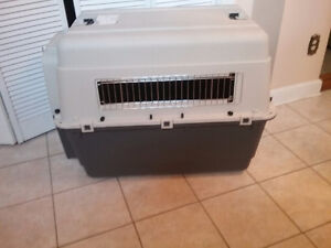 Large used only once airline travel crate