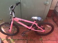 Pink girls bike 18inch dulcis avigo