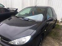 Peugeot 206 S in Black. !!!!!